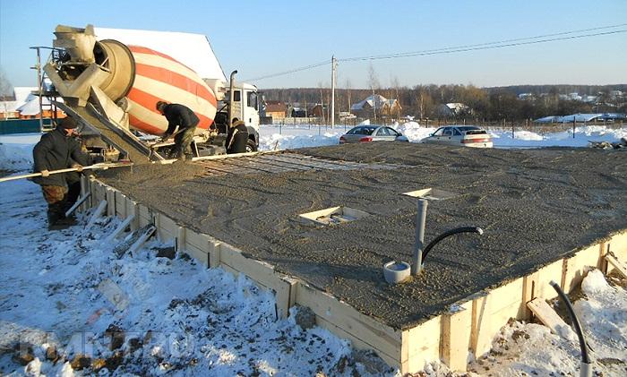 бетонной смеси зимой